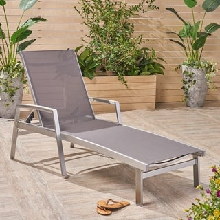 Oxton Outdoor Aluminum Chaise Lounge by Christopher Knight Home