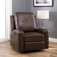 Oliver & James Horvay Leather Swivel Glider Recliner