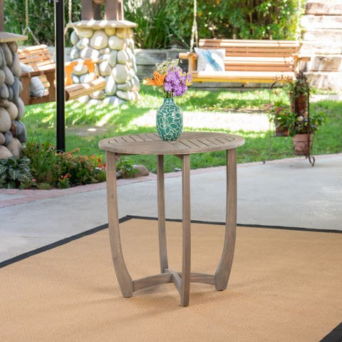 Carina Outdoor Acacia Wood Bistro Table by Christopher Knight Home