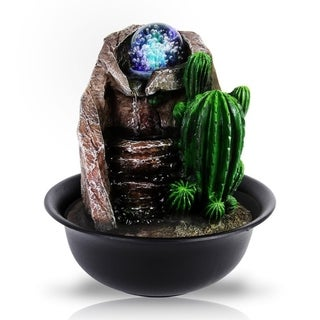 Water Fountain - SLTWF65LED Relaxing Tabletop Water Feature Decoration