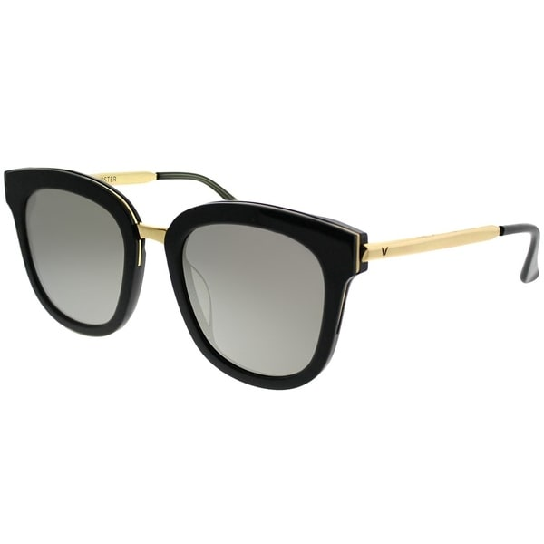 75cd1e9816c0 Gentle Monster Square Absente One 01(2M) Women Black Gold Frame Gold Mirror  Lens