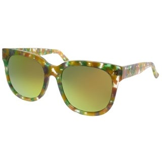 Gentle Monster Square Didi.D FD1(M) Women Yellow Marble Frame Gold Mirror Lens Sunglasses