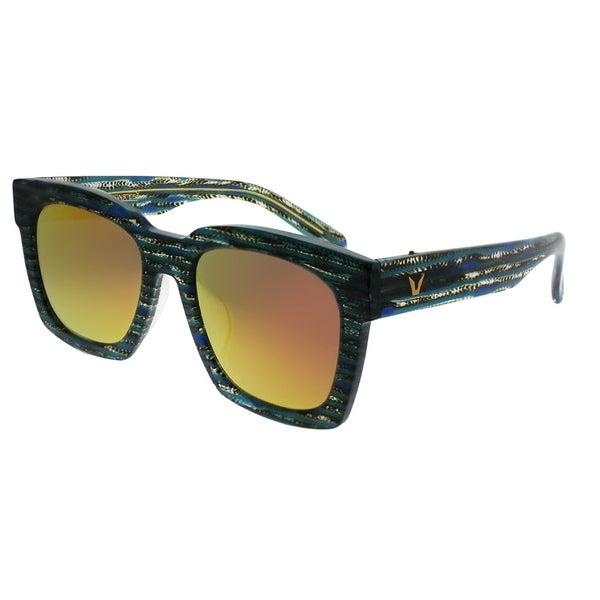 1452f1c6366b Gentle Monster Square Absolute 2 BS1(M) Unisex Blue Striped Frame Red  Mirror Lens