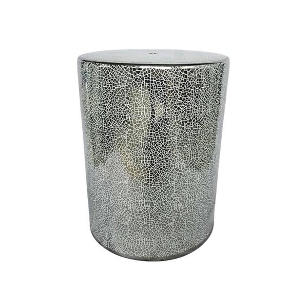 Shop Unique Decorative Ceramic Garden Stool Silver Free