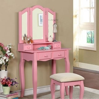JANELLE Transitional Vanity, Pink
