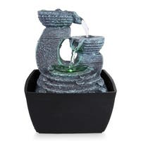 Water Fountain - SLTWF60LED Relaxing Tabletop Water Feature Decoration