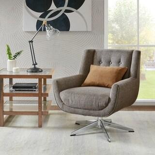 INK+IVY Nina Brown Multi Swivel Lounge Chair, Star Based Swivel