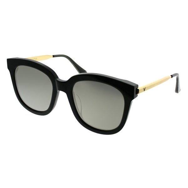 eb16c385cdc3 Gentle Monster Square Absente 01(2M) Women Black Gold Frame Gold Mirror Lens  Sunglasses