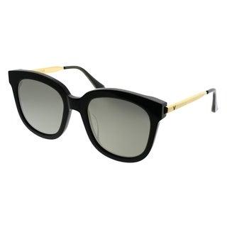 Gentle Monster Square Absente 01(2M) Women Black Gold Frame Gold Mirror Lens Sunglasses