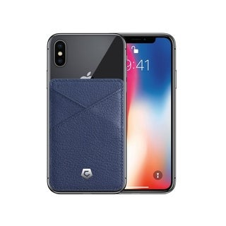 Cobble Pro Premium Genuine Leather Stick On Business Card Holder Phone Wallet for Apple iPhone XS Max/ XR/ X (5 Colors)