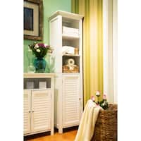 Glitzhome Cabinet with 3-Shelf and 1-door,White