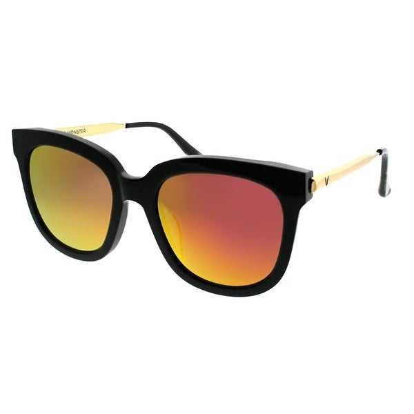 600186cec8e0 Shop Gentle Monster Square Absente 01(M) Women Black Gold Frame Red Mirror  Lens Sunglasses - Free Shipping Today - Overstock - 21798884