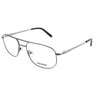 Denim Eyewear Square Denim 133 X93 Unisex Gunmetal Frame Eyeglasses