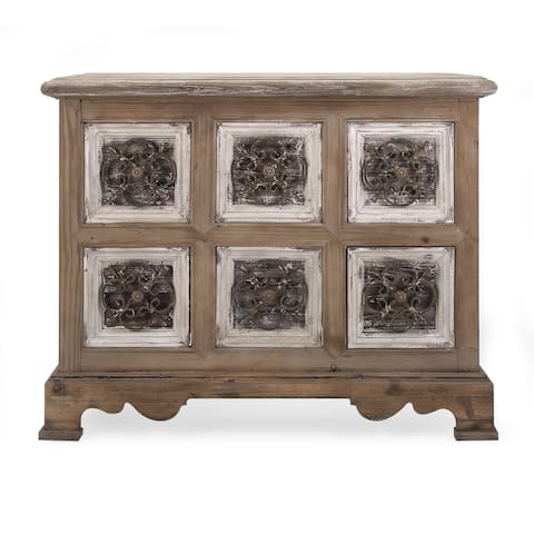 Stunning Sylvia Metal and Wood Chest