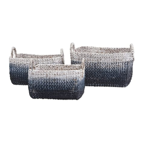 Unique Set of 3 Cascade Woven Water Hyacinth Basket