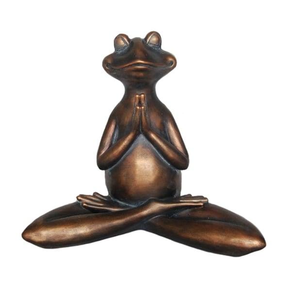 Notably Amusing Decorative Resin Yoga Frog, Copper