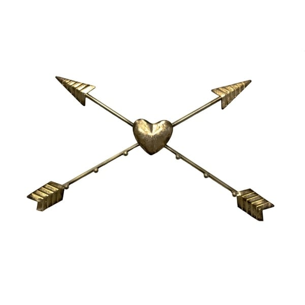 Bold and Beautiful Metal Arrow Wall Art, Gold