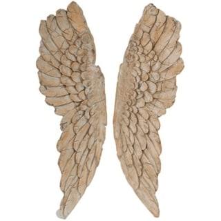 Angel Wings Statue Wall Art, Set of 2, Brown