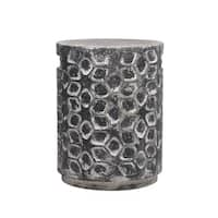 Designer Cement Garden Stool, Gray