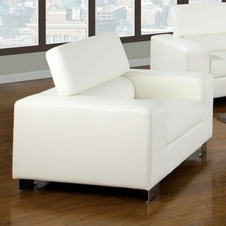 Leatherette Upholstered Contemporary Chair, White