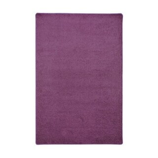 Joy Carpets 6' x 9' Kid Essentials Misc Sold Color Area Rugs Endurance Rectangular Rug - Purple