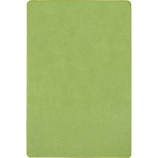 Joy Carpets 6' x 9' Kid Essentials Misc Sold Color Area Rugs Just Kidding Rectangular Rug - Lime Green