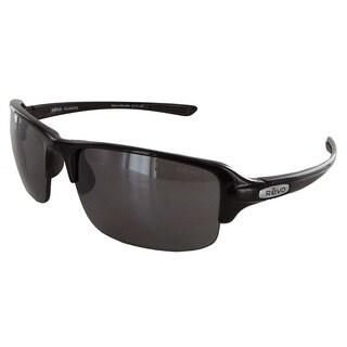 Revo 4041X Mens Abyss Semi Rimless Polarized Sunglasses, Black/Graphite