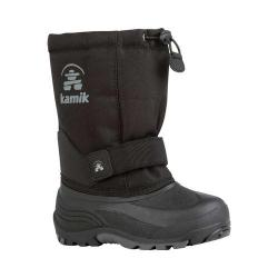 Children's Kamik Rocket Pull On Boot Black Waterproof 600 Denier Nylon/Synthetic Nubuck