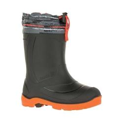 Children's Kamik Snobuster2 Rubber Boot Charcoal Plaid Waterproof Synthetic Rubber Shell