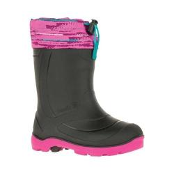 Children's Kamik Snobuster2 Rubber Boot Magenta Waterproof Synthetic Rubber Shell