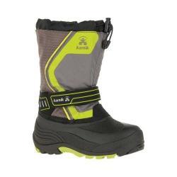 Children's Kamik Snowcoast3 Boot Charcoal Waterproof Ice Nylon/Synthetic Nubuck