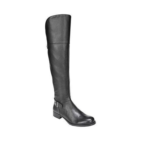 Women's Naturalizer January Over-The-Knee Wide Calf Riding Boot Black Leather