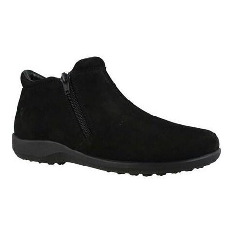 Women's Walking Cradles Zip Black Nubuck Leather