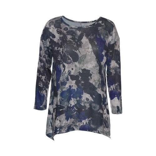 Women's Ojai Clothing Travel Favorite Tunic Camo/Navy/Grey