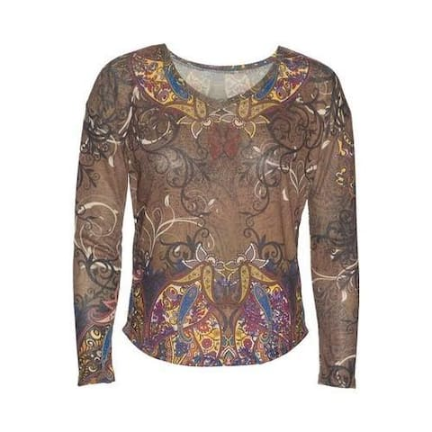 84044f782d Women s Ojai Clothing Travel Flow Top Cappuccino Paisley