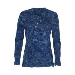 Women's Ojai Clothing Kangaroo Henley Marine Blue