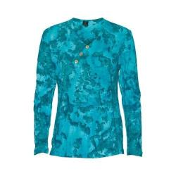 Women's Ojai Clothing Kangaroo Henley Turquoise