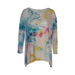 Women's Ojai Clothing Travel Favorite Tunic Watercolor Grey