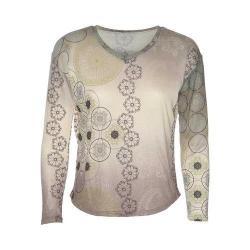 Women's Ojai Clothing Travel Flow Top Black Circles
