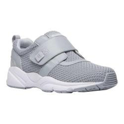 Women's Propet Stability X Hook and Loop Sneaker Light Grey Mesh