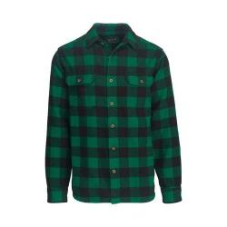 Men's Woolrich Oxbow Bend Flannel Shirt Forest Modern Fit