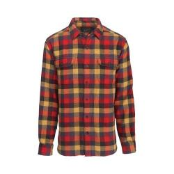 Men's Woolrich Oxbow Bend Flannel Shirt Red Multi Modern Fit