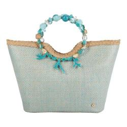 Women's Cappelli Straworld BAG1087 Jeweled Handle Bag Turquoise