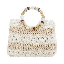Women's Cappelli Straworld BAG1090 Ring Handle Handbag White