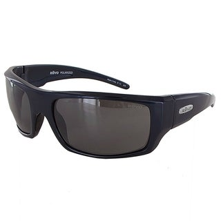 Revo 5008 Mens Canyon Wraparound Polarized Sunglasses, Blue/Graphite