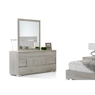 Modrest Ethan Italian Grey Dresser & Mirror Set