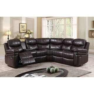 Grayling Leather Air Fabric Sectional