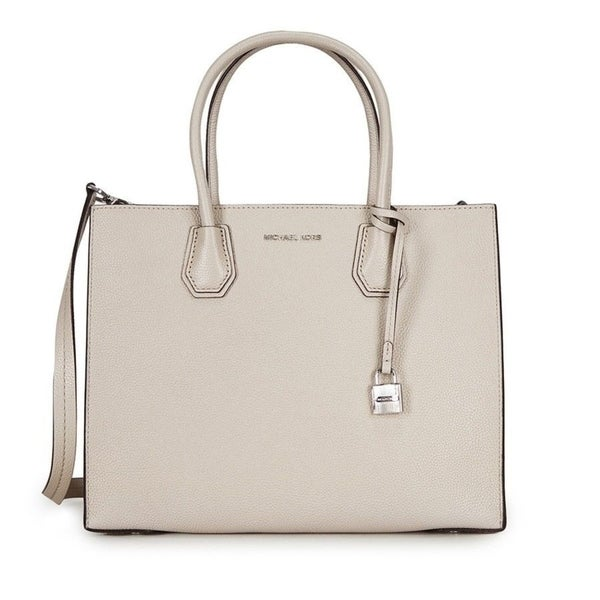 2118e836524b Shop Michael Kors Mercer Large Leather Cement Tote - Free Shipping ...