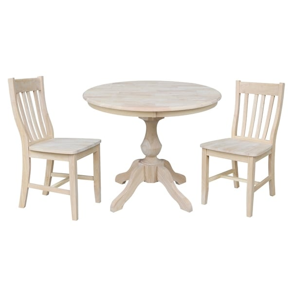 Shop 36 Quot Round Top Pedestal Dining Table With 2 Cafe