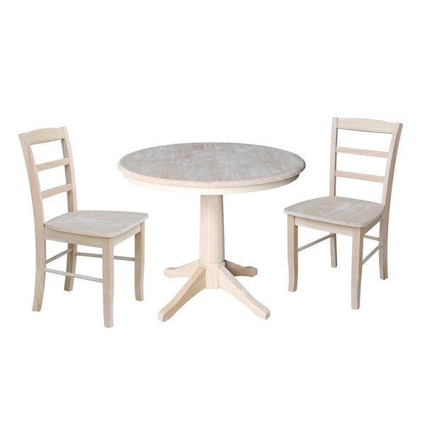 Shop 36 Quot Round Pedestal Dining Table With 2 Madrid Chairs